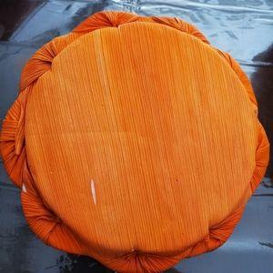 None Accents - Lidded Pumpkin Basket